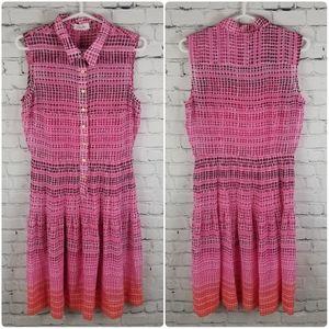 CALVIN KLEIN   flowy sheer ombre pleat dress